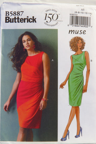 Butterick 5887 Misses' Dress - 6-8-10-12-14 - Smiths Depot Sewing Pattern Superstore  - 1