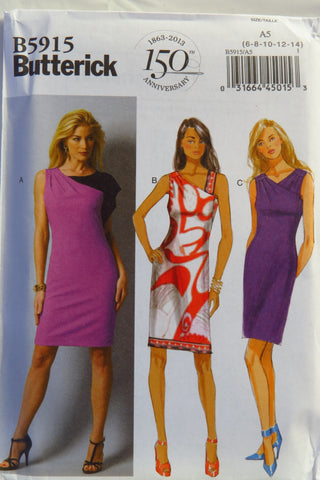 Butterick 5915 Misses' Dress - 6-8-10-12-14 - Smiths Depot Sewing Pattern Superstore  - 1