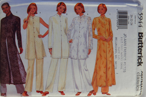 Butterick 5944 Misses'/Misses' Petite Tunic, Duster and Pants - 20-22-24 - Smiths Depot Sewing Pattern Superstore  - 1