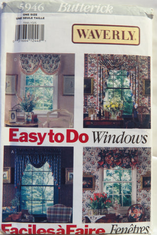 Butterick 5946 Window Treatments -  - Smiths Depot Sewing Pattern Superstore