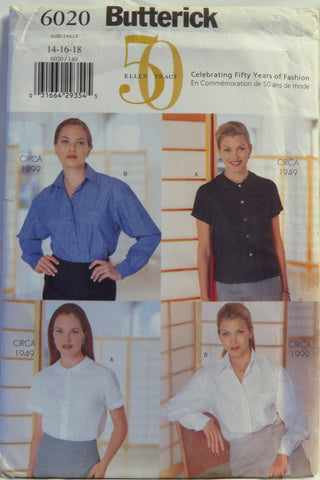 Butterick 6020 Misses' Blouses - 14-16-18 - Smiths Depot Sewing Pattern Superstore