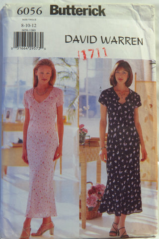 Butterick 6056 Misses'/Misses' Petite Dress and Slip - 8-10-12 - Smiths Depot Sewing Pattern Superstore