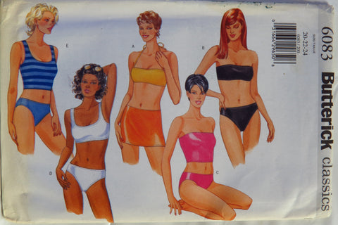 Butterick 6083 Misses' Swimwear Top, Briefs and Skirt - 20-22-24 - Smiths Depot Sewing Pattern Superstore  - 2