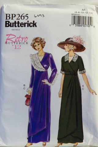 Butterick 0265 Misses' Retro '12 Dress, Belt and Bib - 6-8-10-12-14 - Smiths Depot Sewing Pattern Superstore  - 1