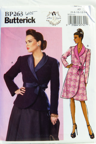 Butterick 0263 Misses' Jacket and Coat - 6-8-10-12-14 - Smiths Depot Sewing Pattern Superstore