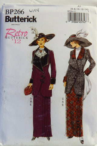 Butterick 0266 Misses' Retro '12 Jacket, Bib and Skirt - 6-8-10-12-14 - Smiths Depot Sewing Pattern Superstore  - 1