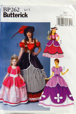 Butterick 0262 Misses'/Children's/Girls' Costume - Kids 3-4-5-6-7-8 - Smiths Depot Sewing Pattern Superstore  - 1