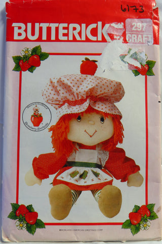 Butterick 0297 Strawberry Shortcake™ Doll and Clothes -  - Smiths Depot Sewing Pattern Superstore