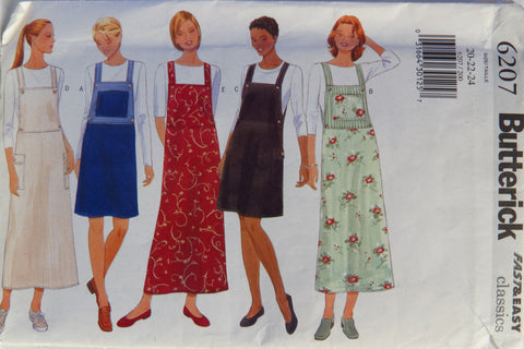 Butterick 6207 Misses' Jumper - 20-22-24 - Smiths Depot Sewing Pattern Superstore
