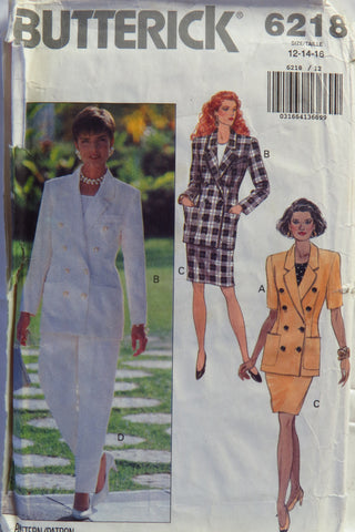 Butterick 6218 Misses' Jacket, Top and Skirt - 12-14-16 - Smiths Depot Sewing Pattern Superstore