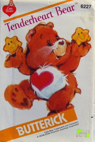 "Butterick 6227 Tenderheart Care Bear™ 17"" Stuffed Doll Toy -  - Smiths Depot Sewing Pattern Superstore"