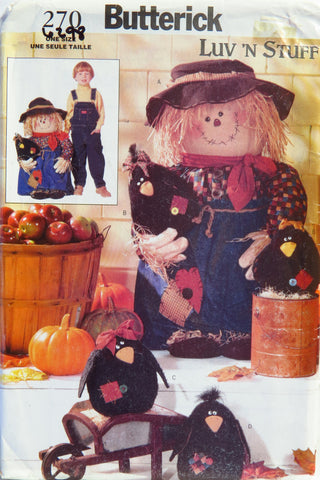 Butterick 0270 Porch Scarecrow and Crows -  - Smiths Depot Sewing Pattern Superstore