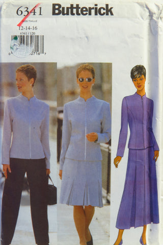 Butterick 6341 Misses'/Misses' Petite Jacket, Skirt and Pants - 12-14-16 - Smiths Depot Sewing Pattern Superstore
