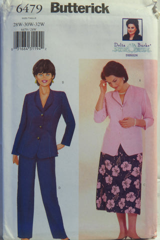 Butterick 6479 Women's/Women's Petite Top, Skirt and Pants - 28W-30W-32W - Smiths Depot Sewing Pattern Superstore
