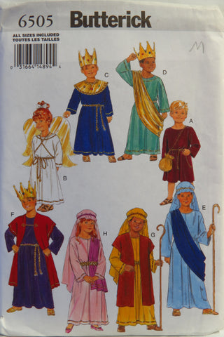 Butterick 6505 Children's Costume -  - Smiths Depot Sewing Pattern Superstore