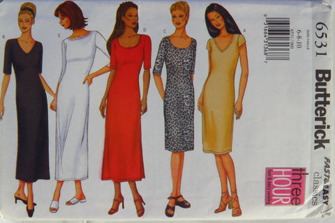 Butterick 6531 Misses'/Misses' Petite Dress - 6-8-10 - Smiths Depot Sewing Pattern Superstore