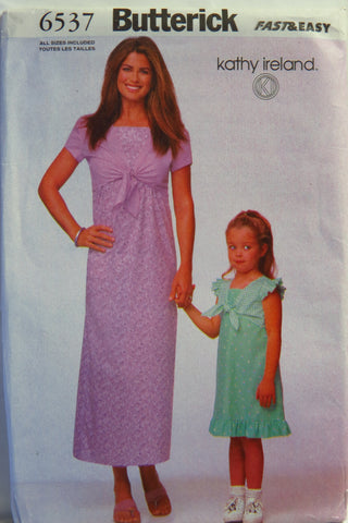 Butterick 6537 Misses'/Children's/Girls' Top and Dress -  - Smiths Depot Sewing Pattern Superstore