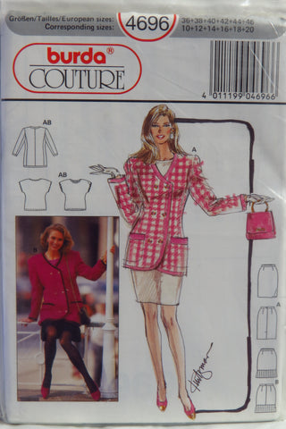 Burda 4696 Misses' Jacket, Skirt and Shirt - 10-12-14-16-18-20 - Smiths Depot Sewing Pattern Superstore