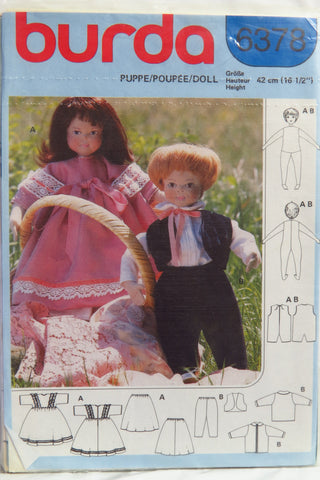 Burda 6378 42 cm Doll and Clothes -  - Smiths Depot Sewing Pattern Superstore