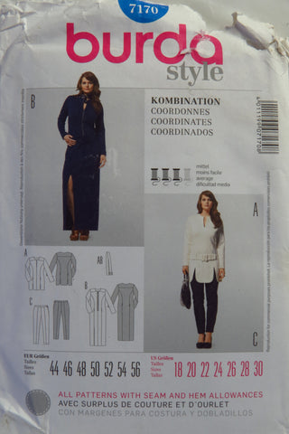 Burda 7170 Misses' and Women's Coordinates - 18-20-22-24-26-28-30 - Smiths Depot Sewing Pattern Superstore
