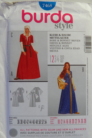 Burda 7468 Misses' Costumes - 10-12-14-16-18-20-22-24-26-28 - Smiths Depot Sewing Pattern Superstore