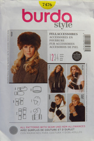 Burda 7476 Fur Accessories -  - Smiths Depot Sewing Pattern Superstore