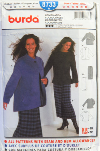 Burda 8733 Misses' Coordinates - 12-14-16-18-20-22 - Smiths Depot Sewing Pattern Superstore