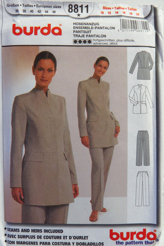 Burda 8811 Misses' Pantsuit - 10-12-14-16-18-20 - Smiths Depot Sewing Pattern Superstore