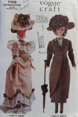 "Vogue 7109 11½"" Fashion Doll Clothes -  - Smiths Depot Sewing Pattern Superstore"