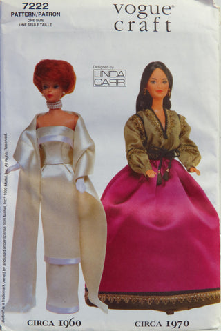 "Vogue 7222 11½"" Fashion Doll Clothes -  - Smiths Depot Sewing Pattern Superstore"