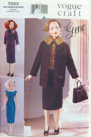 "Vogue 7223 Gene 15½"" Fashion Doll Clothes -  - Smiths Depot Sewing Pattern Superstore"