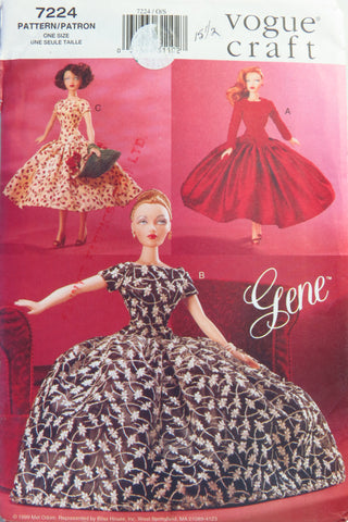 "Vogue 7224 Gene 15½"" Fashion Doll Clothes -  - Smiths Depot Sewing Pattern Superstore"