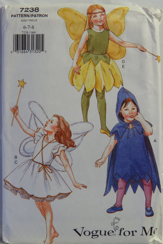 Vogue 7238 Children's Costume - 6-7-8 - Smiths Depot Sewing Pattern Superstore