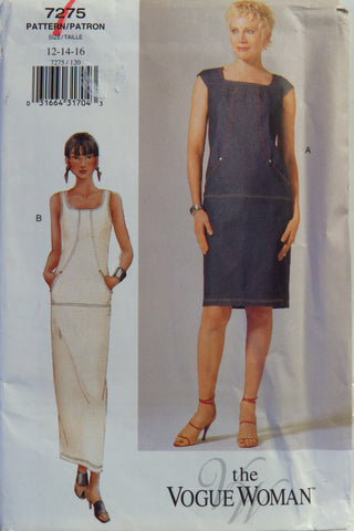 Vogue 7275 Misses' Dress - 12-14-16 - Smiths Depot Sewing Pattern Superstore