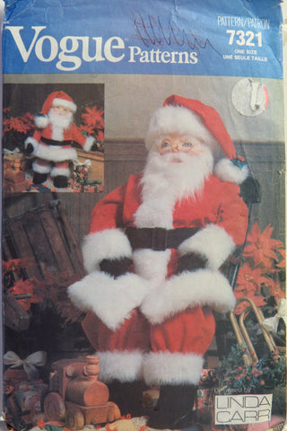 Vogue 7321 Large and Small Santa Dolls -  - Smiths Depot Sewing Pattern Superstore