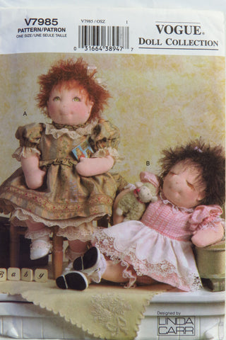 "Vogue 7985 15"" Baby Dolls and Clothes -  - Smiths Depot Sewing Pattern Superstore"