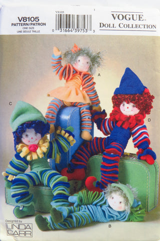 Vogue 8105 Fleece Circle Dolls -  - Smiths Depot Sewing Pattern Superstore