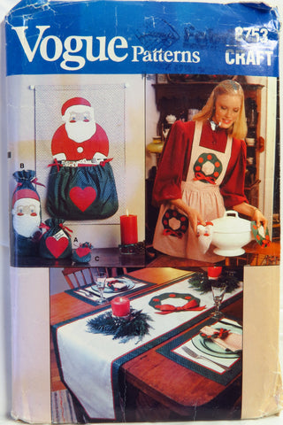 Vogue 8753 Christmas Craft – Smiths Depot Sewing Pattern Superstore