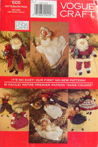 Vogue 0505 Paper Twist Christmas Package -  - Smiths Depot Sewing Pattern Superstore