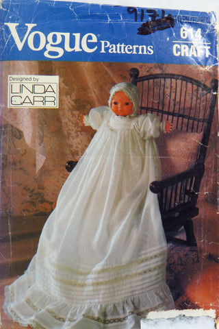"Vogue 0614 Christening Dress For 16"" Bye-Lo Baby Type Doll -  - Smiths Depot Sewing Pattern Superstore"
