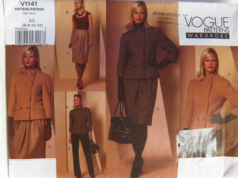 Vogue 1141 Misses' Jacket, Top, Skirt and Pants - AA (6-8-10-12) - Smiths Depot Sewing Pattern Superstore