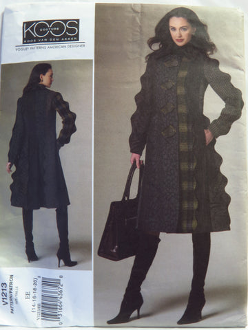 Vogue 1213 Misses' Coat - EE (14-16-18-20) - Smiths Depot Sewing Pattern Superstore