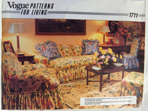 Vogue 1711 Pillows and Slipcovers -  - Smiths Depot Sewing Pattern Superstore