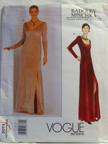 Vogue 2073 Misses' and Misses' Petite Dress - 12-14-16 - Smiths Depot Sewing Pattern Superstore
