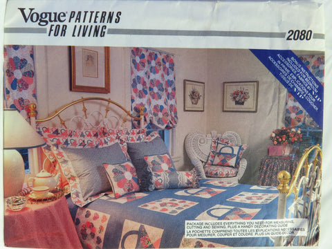 Vogue 2080 Window Treatments and Bedroom Accessories -  - Smiths Depot Sewing Pattern Superstore