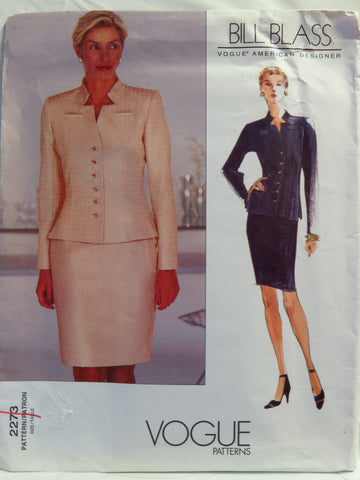 Vogue 2273 Misses' and Misses' Petite Jacket and Skirt - 12-14-16 - Smiths Depot Sewing Pattern Superstore
