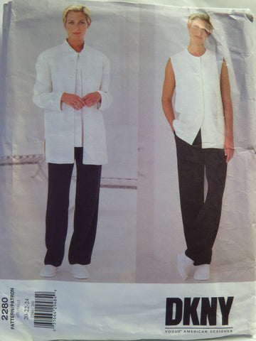 Vogue 2280 Misses' and Misses' Petite Jacket, Vest and Pants - 20-22-24 - Smiths Depot Sewing Pattern Superstore