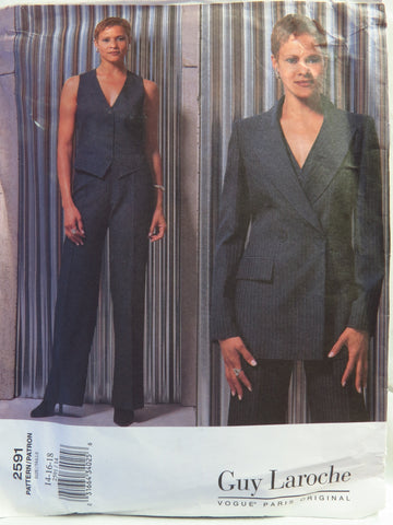Vogue 2591 Misses' Jacket, Vest and Pants - 14-16-18 - Smiths Depot Sewing Pattern Superstore