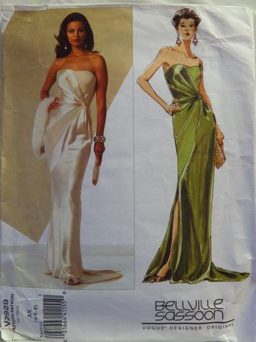 Vogue 2929 Misses' Dress - AX (4-6-8) - Smiths Depot Sewing Pattern Superstore