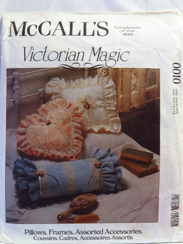 McCall's 0010 Pillows, Frames and Assorted Accessories -  - Smiths Depot Sewing Pattern Superstore